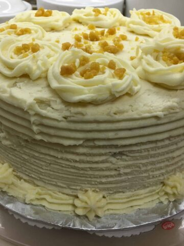Moist and Easy Carrot Cake on a plate