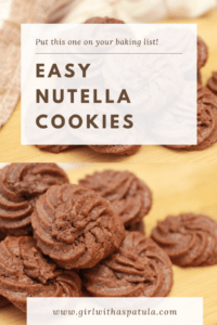 Nutella Cookies PIN for Pinterest