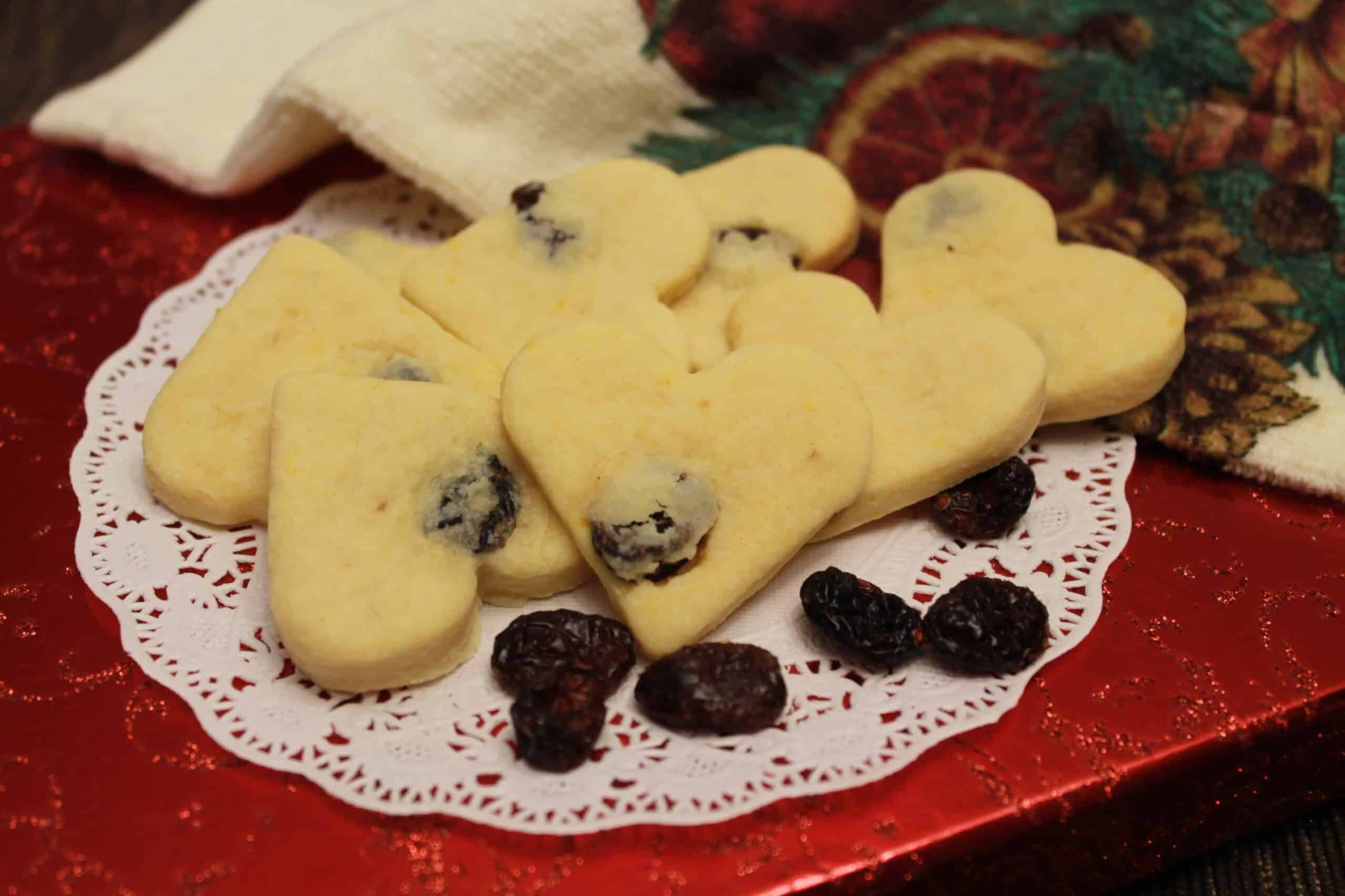 Orange Cranberry Cookies on a plate