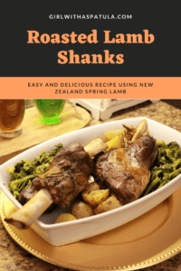 Roasted Lamb Shanks in a plate