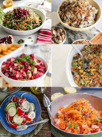 6 Healthy Salads in bowls