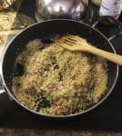 Risotto in a pan