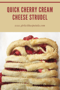 Cherry Cream Cheese Strudel PIN for Pinterest