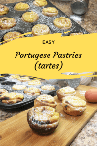 Portuguese Pastries PIN for Pinterest