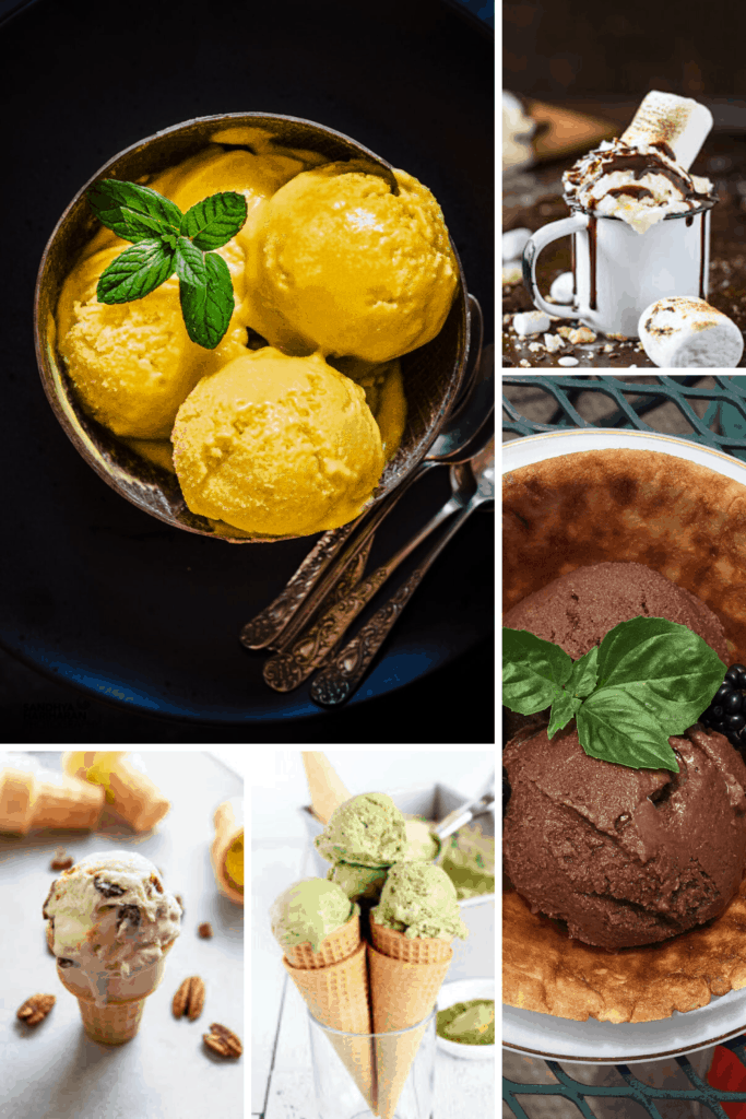 18 Ice Cream, Gelato and Sorbet Recipes Collage featured image