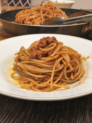 Bolognese Sauce in a bowl