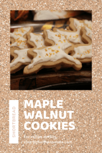 Maple Walnut Shortbread cookies on a tray