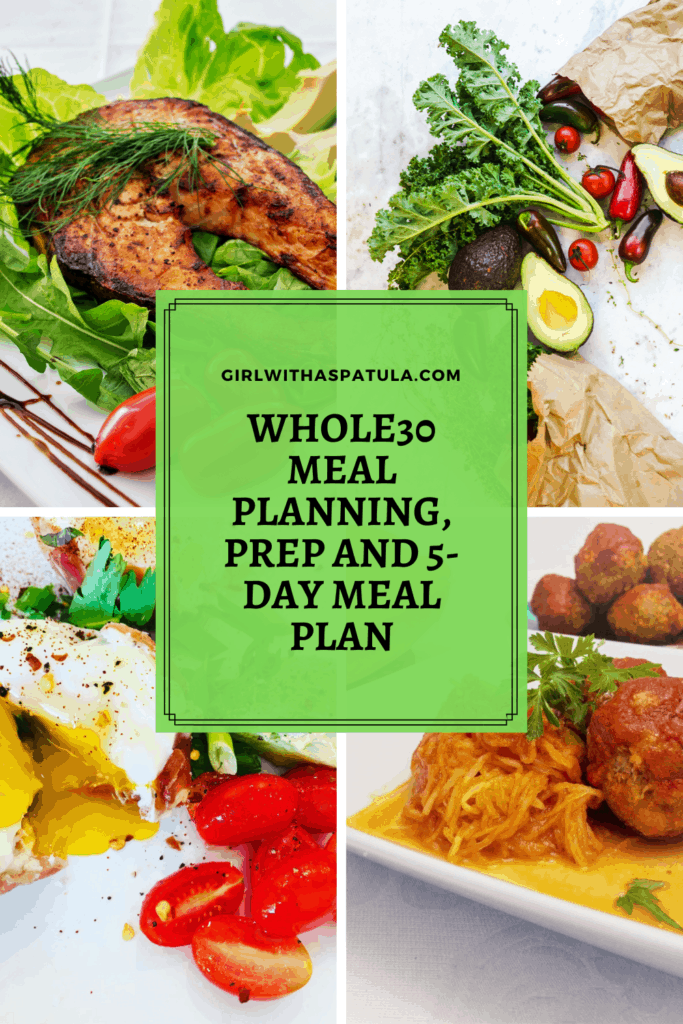 Pinterest Pin for Whole 30 Meal Prep and Planning
