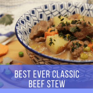 Beef Stew in a bowl PIN