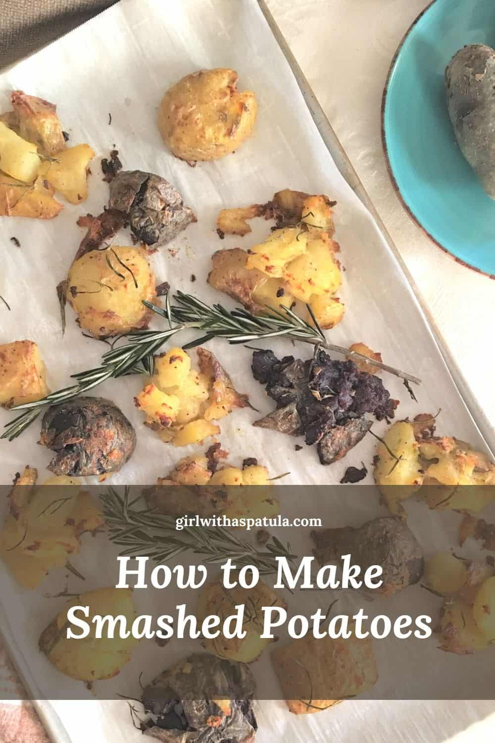 smashed potato PIN for Pinterest
