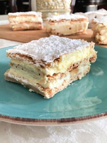 Mille Feuille Pastries on a plate