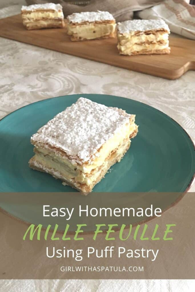 Mille Feuille Pastries on a plate PIN