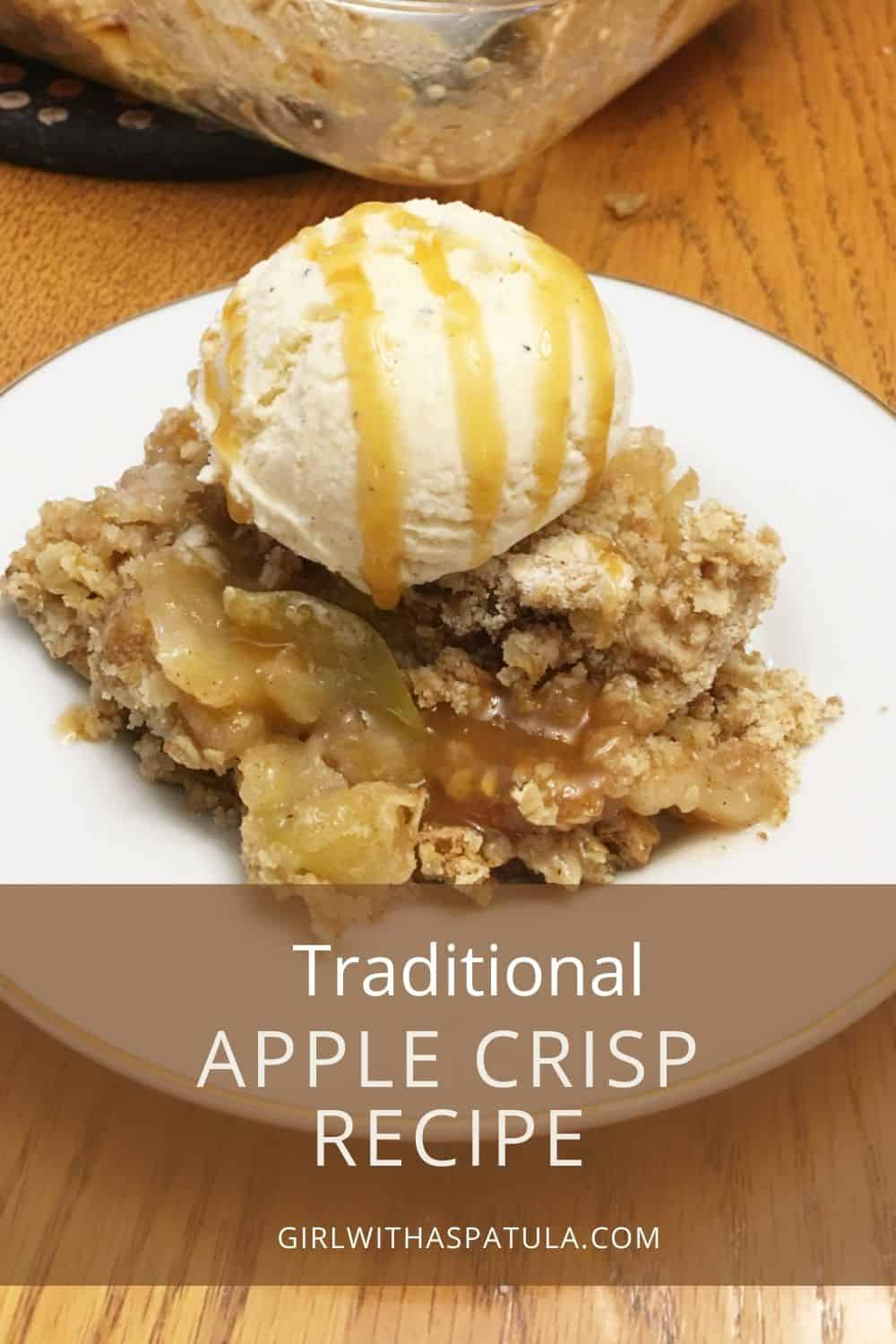 apple crisp PIN for pinterest