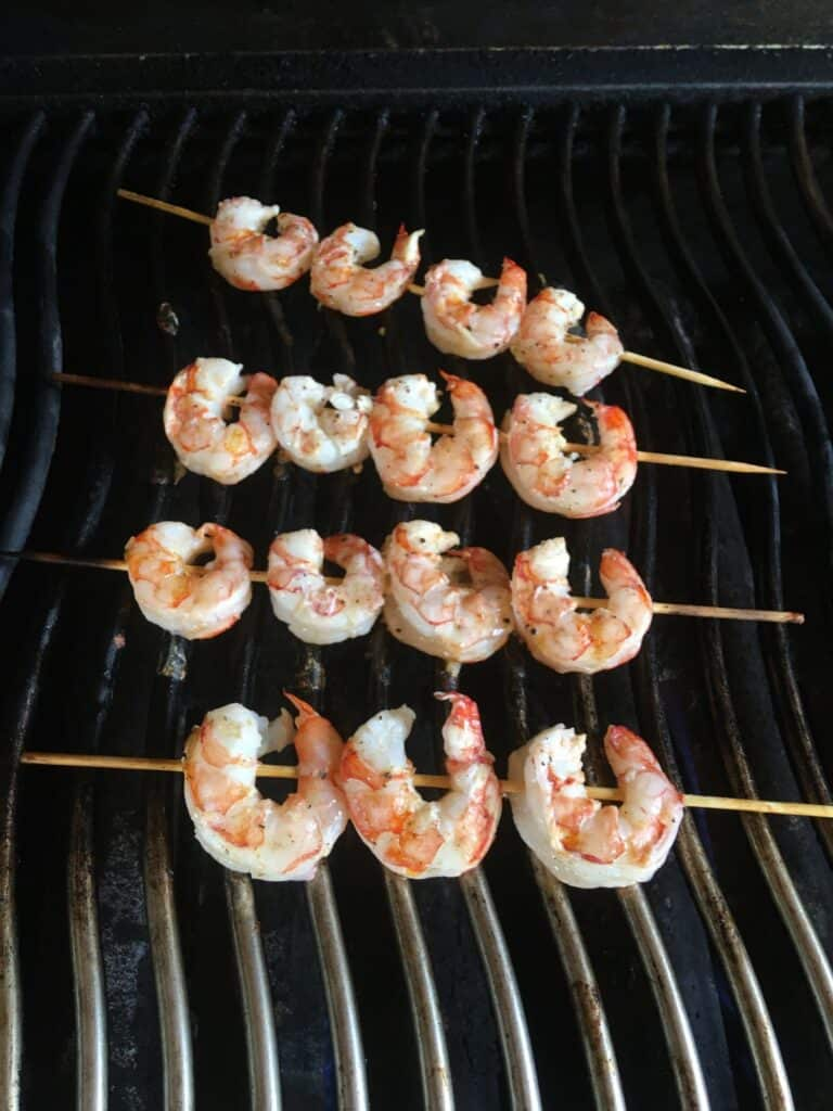 Shrimp on a barbecue