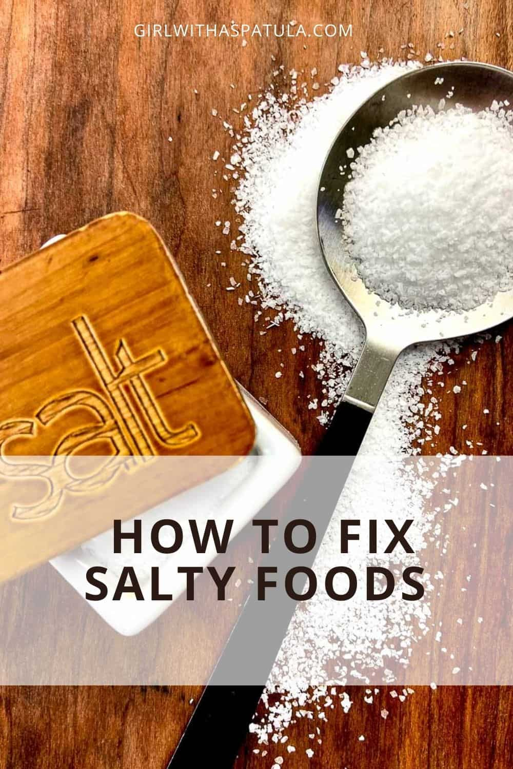 How to Fix Salty Food PIN
