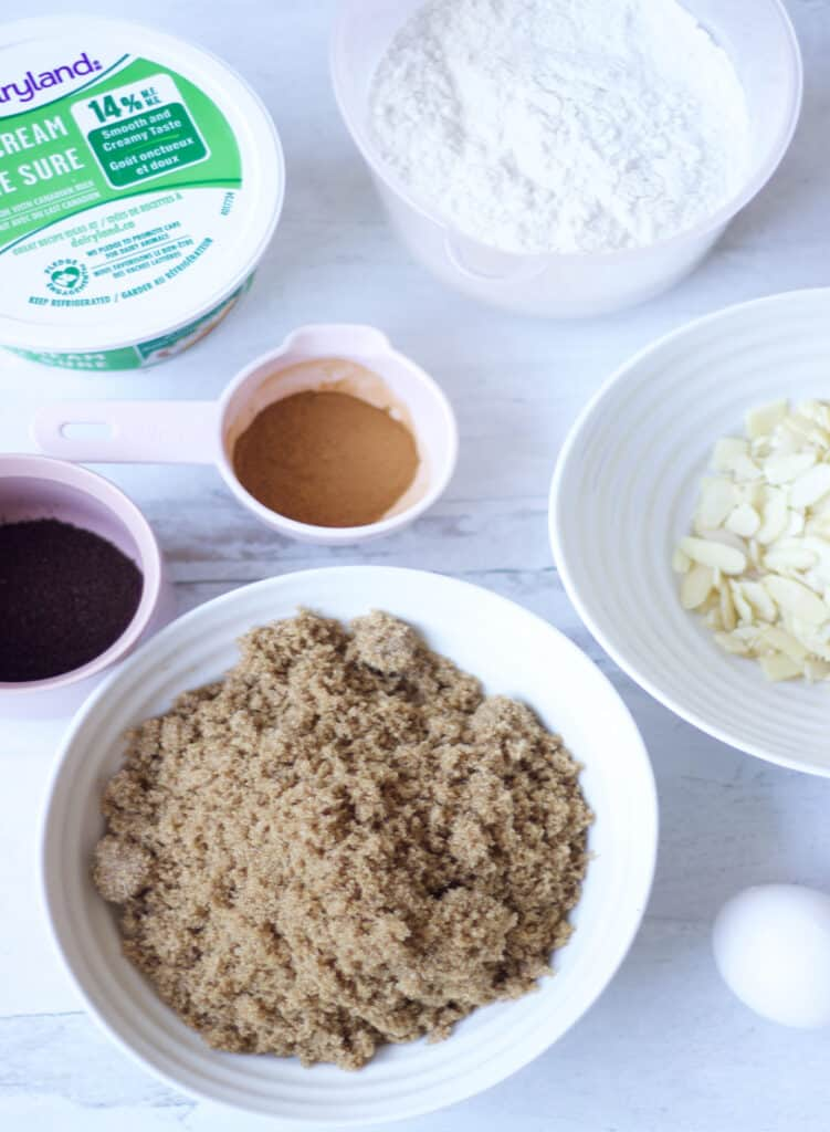 Ingredients for the Coffee Cake