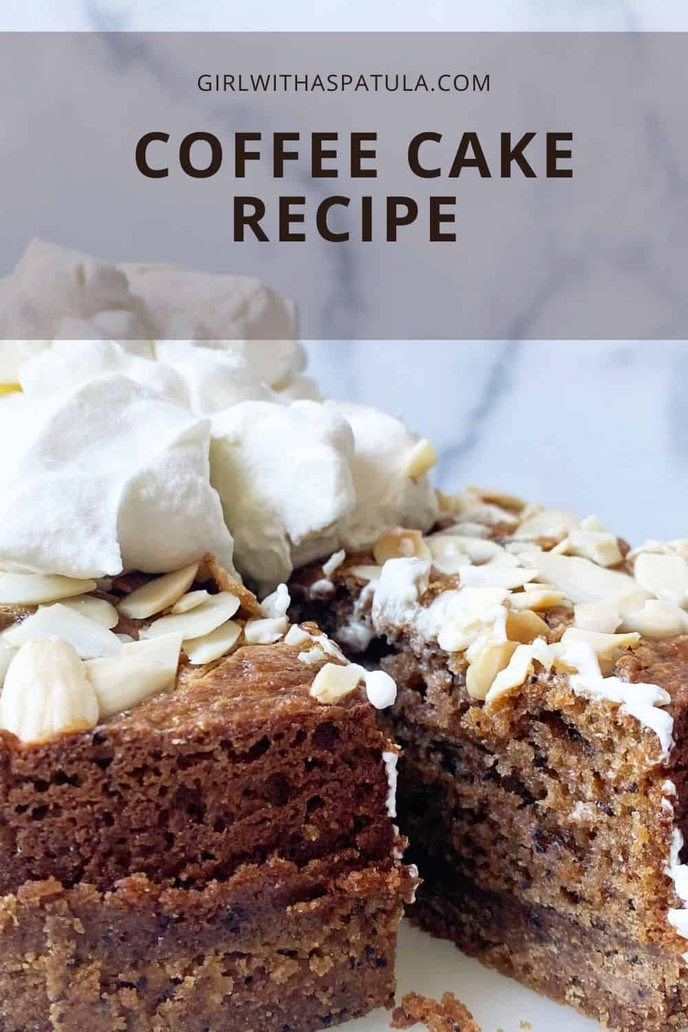 coffee cake PIN for Pinterest